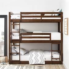 Dorel Living   Dorel Living Sierra Triple Bunk Bed, Mocha