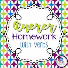 Querer Verb Chart Spanish Querer With Verbs Homework