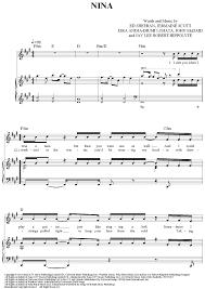 ed sheeran sheet music nina sheet music music for piano and more sheetmusicnow com