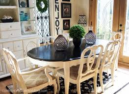 dining room table makeover with minwax polyshades in espresso