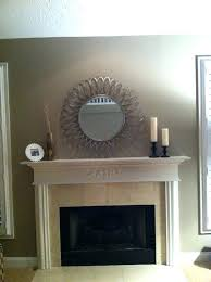 full image for dimplex 40 in mirror wall mount electric fireplace wall mirror above fireplace mirrored