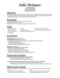 Objective For Fashion Resume