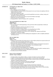 Retail Director Resume Samples Velvet Jobs
