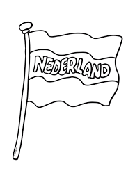 Kleurplaat Nederland Vlag Wk Voetbal Kleurplatennl