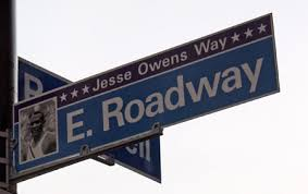 jesse owens roadway cleveland and maltz museum street jesse owens way street sign