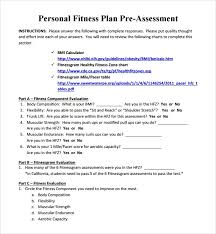 Fitness Plan Chart Sample Fitness Plan Template 11 Free Documents In Pdf Word