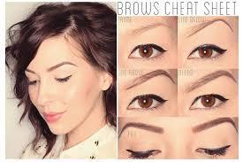 heres step by step eyebrow makeup tutorial