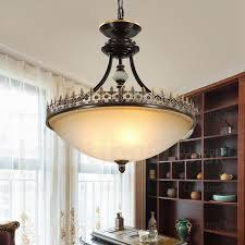 3 light country rustic pendant lights with glass shade for dining room corridor