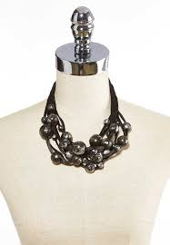 Black Chunky Bead Necklace Necklaces Cato Fashions