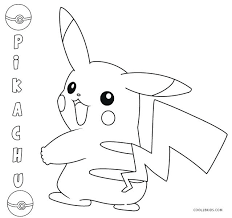 picachu coloring pages coloring pages for free cute pikachu coloring pages