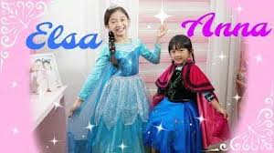 kaycee rachel in wonderland family elsa and anna makeover