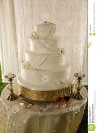 Cake Of A Wedding Stock Photo Image Of Bakery Elegant 109286888