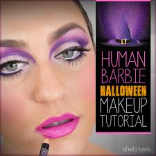 this makeup tutorial is an easy way to take your barbie costume to the next