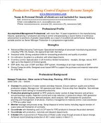 Manufacturing Resume Examples Beauteous 48 Manager Resumes In PDF Free Premium Templates