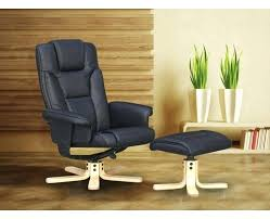 leather armchair with footstool black leather reclining chair and footstool