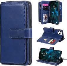 Amazon.com: YIKATU Wallet Case for iPhone 12 Pro Max with Card Holder,6.7  Inch Premium Leather Case, Magnetic 10 Card Slots Money Pocket Clutch for  Women/Men - Dark Blue