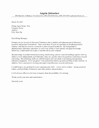 Pharmacy Tech Cover Letter New Resume For Lab Technician With No