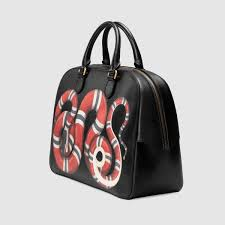 gucci duffle bags for men. gucci kingsnake print leather duffle detail 2 bags for men n