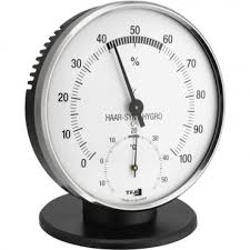 hair hygrometer. thermo-hygrometer black hair synthetic 10.2cm hygrometer