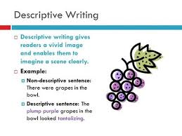 what is an adjective lesson ppt video online  descriptive writing descriptive writing gives readers a vivid image and enables them to imagine a scene
