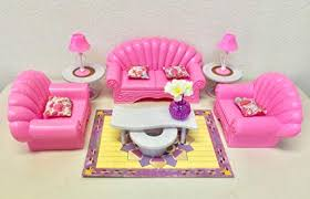 Barbie furniture for dollhouse Amazon Image Unavailable Amazoncom Amazoncom Gloria Dollhouse Furniture Living Room Playset Toys Games