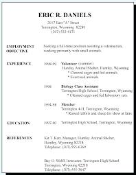 Sample Resume For A Highschool Student Resume Template For Students Simple Teenage Resume For First Job
