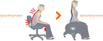 exercise ball chair posture. sitting positions comparison image exercise ball chair posture r