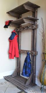 Hall Tree Coat Rack Plans Remodelaholic DIY Hall Tree Coat Rack inspired by Pottery Barn 33