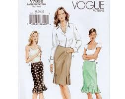 Plus Size Skirt Patterns Magnificent Plus Size Skirt Pattern Flounce Skirt Trumpet Skirt With Etsy