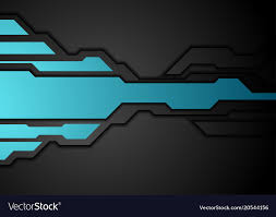 Blue Black Abstract Technology Background