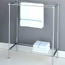 standing towel rack for bathroom enchanting standing hand towel rack free standing towel racks