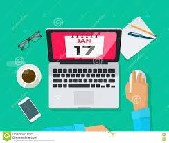 browsing calendar concept deadline laptop management organizer person ...