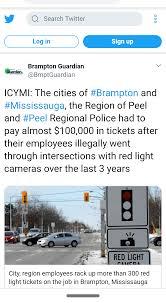Brampton Red Light Cameras So We The Taxpayer Paid The Fines Brampton