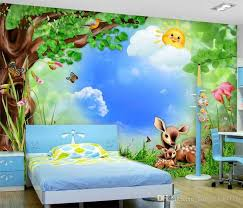 jungle wallpaper for kids. Brilliant For Custom Photo Wallpaper Roll Cartoon Forest Animals Childrenu0027S Room Mural  Backdrop 3d Wallpapers Kids Stickers Wall Murals For Desktop  To Jungle S