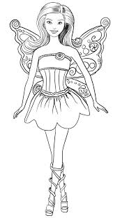 Barbie Fairy Coloring Pages Free Page To Print