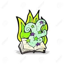 cartoon magic spell book stock vector 32200872