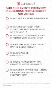 Questions To Not Ask In An Interview Part Time Events Job Interview 7 Questions People Regret Not Asking