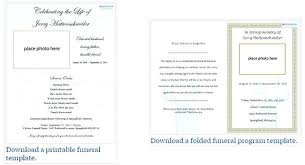 Microsoft Publisher Program Template Funeral Programs The Free Program Template Memorial