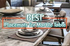 best placemats for marble table 2021