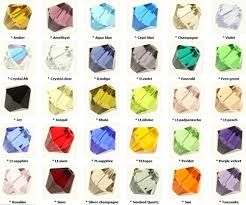 Bead Color Chart 50pcs X Top Quality 3mm Austrian Bicone Crystal Beads You Pick Color Ssb3 50