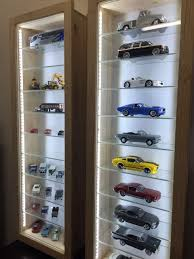 models and train models show display cabinet with glass shelves dust proof