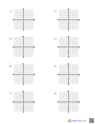 5 Four Quadrant 5x5 Grid Size Graph Paper 5x5 Equation