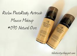 review revlon photoready airbrush mousse foundation 090 natural ocre