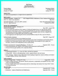 Resume Template High School Senior Elegant High School Resume