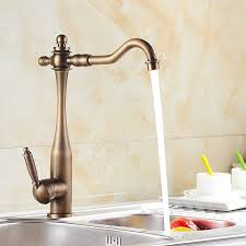 Inspired Kitchen Faucet Antique Brass Finish At FaucetsDeal