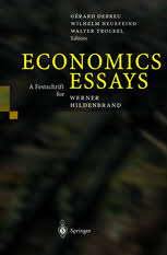 economics essays a festschrift for werner hildenbrand gerard  economics essays