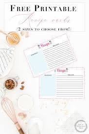 Free Printable Recipe Cards Organize Your Kitchen