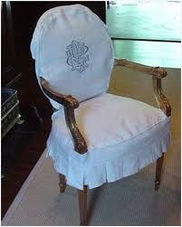 i m sewing slipcovers monogrammed dining chairs in white linen