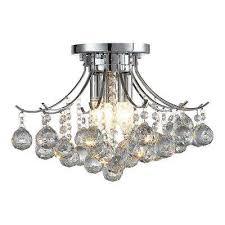 warsaw 3 light chrome crystal chandelier