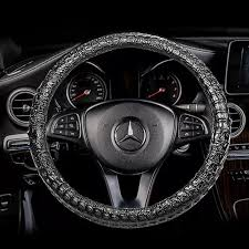 crocodile alligator leather steering wheel cover universal 15 inch 1